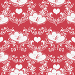 Heart Damask Wrapping Paper (Personalized)