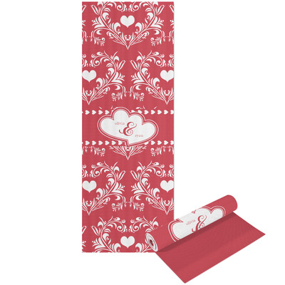 Heart Damask Yoga Mat - Printable Front and Back (Personalized)