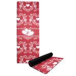 Heart Damask Yoga Mat (Personalized)