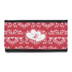 Heart Damask Leatherette Ladies Wallet (Personalized)