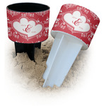Heart Damask Beach Spiker Drink Holder (Personalized)