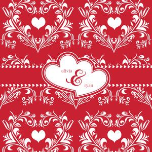 Heart Damask