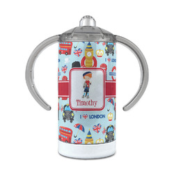 London 12 oz Stainless Steel Sippy Cup (Personalized)