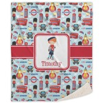 London Sherpa Throw Blanket (Personalized)