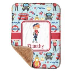 "London Sherpa Baby Blanket 30"" x 40"" (Personalized)"