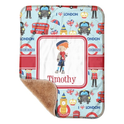 "London Sherpa Baby Blanket 30"" x 40"" (Personalized)"