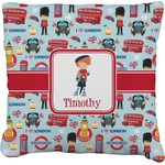 London Faux-Linen Throw Pillow (Personalized)