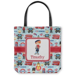 "London Canvas Tote Bag - Small - 13""x13"" (Personalized)"
