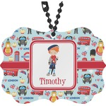 London Rear View Mirror Charm (Personalized)