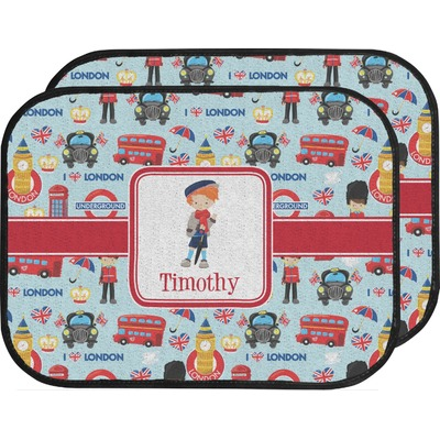 London Car Floor Mats (Back Seat) (Personalized)
