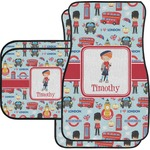 London Car Floor Mats Set - 2 Front & 2 Back (Personalized)