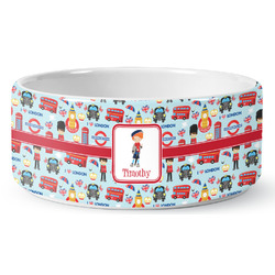 London Ceramic Pet Bowl (Personalized)
