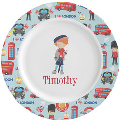 London Ceramic Dinner Plates (Set of 4) (Personalized)