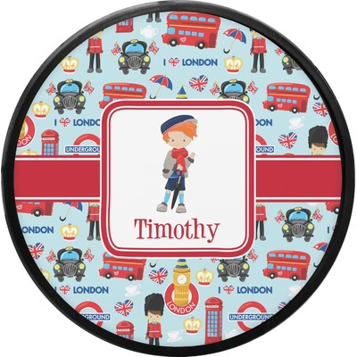 London Round Trailer Hitch Cover (Personalized)