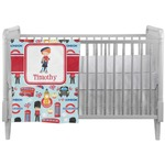 London Crib Comforter / Quilt (Personalized)
