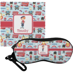 London Eyeglass Case & Cloth (Personalized)