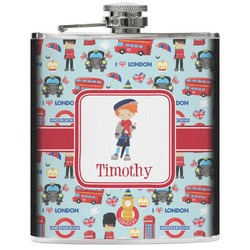 London Genuine Leather Flask (Personalized)