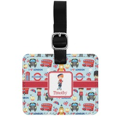 London Genuine Leather Rectangular  Luggage Tag (Personalized)