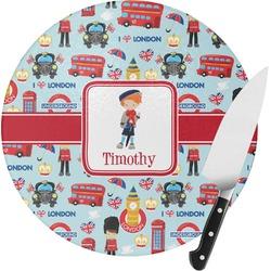 London Round Glass Cutting Board (Personalized)