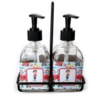 London Soap & Lotion Dispenser Set (Glass) (Personalized)