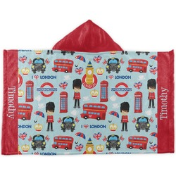 London Kids Hooded Towel (Personalized)