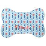 London Bone Shaped Dog Food Mat (Personalized)