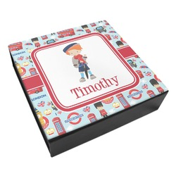 London Leatherette Keepsake Box - 3 Sizes (Personalized)