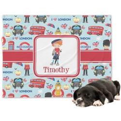 London Minky Dog Blanket - Large  (Personalized)