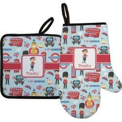 London Oven Mitt & Pot Holder (Personalized)