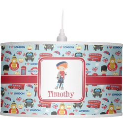 London Drum Pendant Lamp Linen (Personalized)