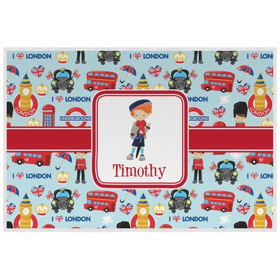 London Laminated Placemat w/ Name or Text
