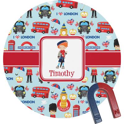 London Round Fridge Magnet (Personalized)
