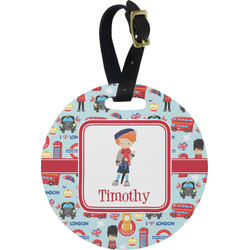 London Round Luggage Tag (Personalized)
