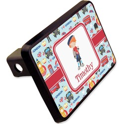 "London Rectangular Trailer Hitch Cover - 2"" (Personalized)"