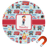 London Round Car Magnet (Personalized)
