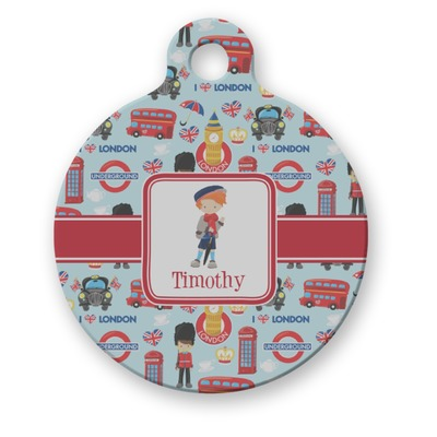 London Round Pet ID Tag (Personalized)