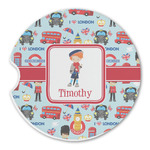 London Sandstone Car Coasters (Personalized)