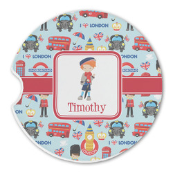 London Sandstone Car Coaster - Single (Personalized)