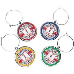 London Wine Charms (Set of 4) (Personalized)