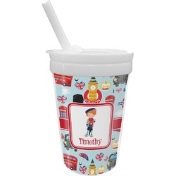 London Sippy Cup with Straw (Personalized)