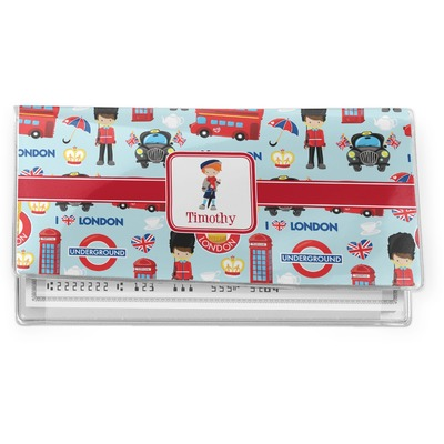 London Vinyl Checkbook Cover (Personalized)