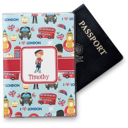 London Vinyl Passport Holder (Personalized)