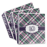 Plaid with Pop 3-Ring Binder (Personalized)