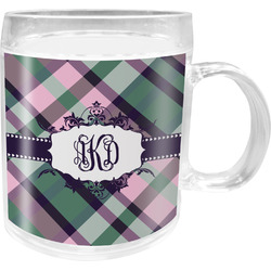 Plaid with Pop Acrylic Kids Mug (Personalized)