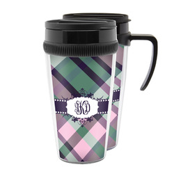 Plaid with Pop Acrylic Travel Mugs (Personalized)