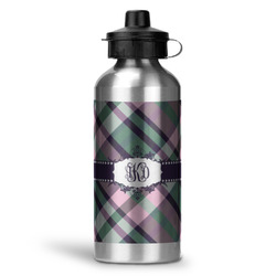 Plaid with Pop Water Bottle - Aluminum - 20 oz (Personalized)