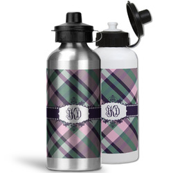 Plaid with Pop Water Bottles- Aluminum (Personalized)