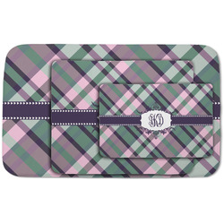 Plaid with Pop Area Rug (Personalized)