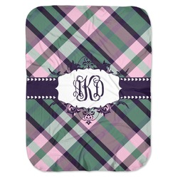 Plaid with Pop Baby Swaddling Blanket (Personalized)