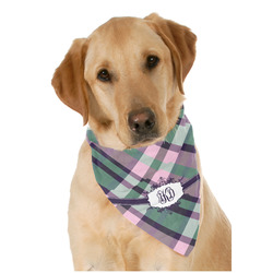 Plaid with Pop Dog Bandana Scarf w/ Monogram
